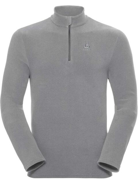 Odlo Roy 1/2 Zip Midlayer Men platinum grey-odlo steel grey-stripes